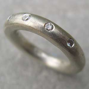 Chunky white gold eternity ring