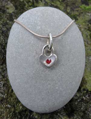 Ruby-padlock-heart-necklace